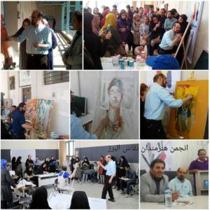 ورکشاپ نقاشی انجمن هنرمندان نقاش البرز